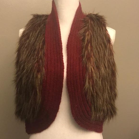 Lovely Girl Jackets & Blazers - LOVELY GIRL Faux fur vest